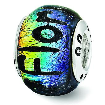 Sterling Silver Reflections Florida Dichroic Glass Bead Charm