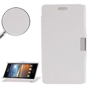 Cell phone cover case for LG Optimus L5 / E610 white brushed