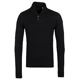 Schott NYC Crusader 2 Black Knit Sweater
