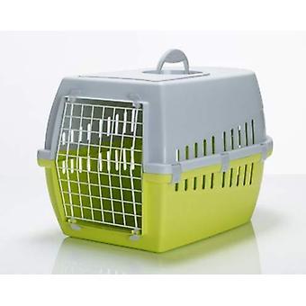 Trotter 1 Pet transporteur d'avions approuvé Lime/grey/blue 49x33x30cm (Pack de 3)