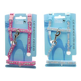 Flower Reflective H Harness Assorted Med (Pack of 3)