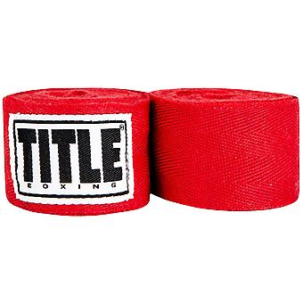 Title Boxing Traditional Weave Handwraps-Red
