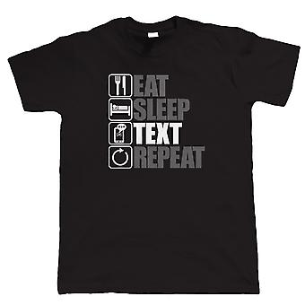 Vectorbomb, äta sömn texten Repeat, Mens rolig, teknik T Shirt (S till 5XL)