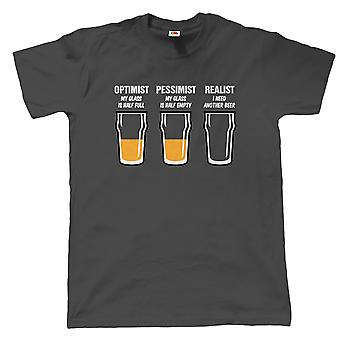 Vectorbomb, Realist Beer Glass, Mens Funny T Shirt (S to 5XL)