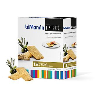 Bimanan PRO Tosta Olive Oil 12 tostas (Dietetics and nutrition , Crackers)