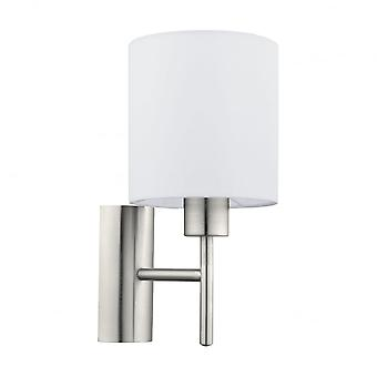 Eglo Pasteri 1 Light Switched Wall Light White