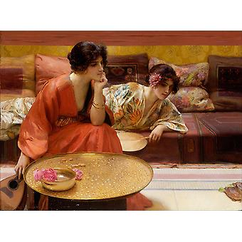 H Siddons Mowbray - Idle Hours Poster Print Giclee