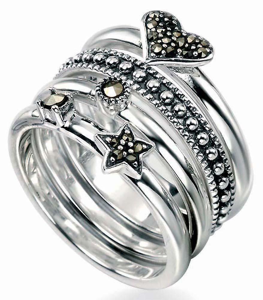Modische Markasit Ring Silber 925