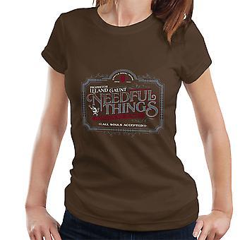 Camiseta de la mujer de Stephen King cosas necesarias