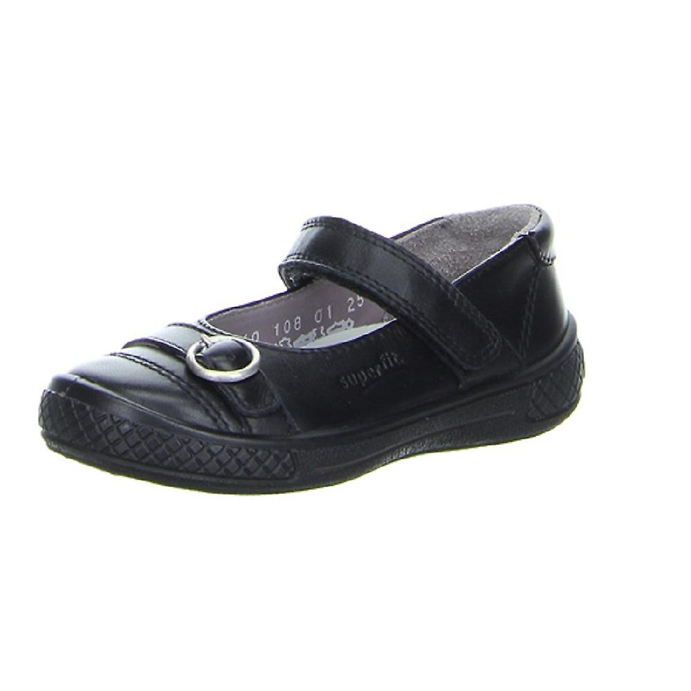 Superfit Girls Victoria 8108-01 Black School Shoes