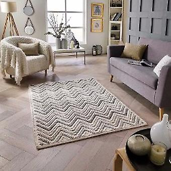 Alfombras Savannah Chevron crema Natural rectángulo alfombras llano casi llanos