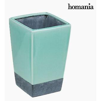 Bigbuy Turquoise ceramic vase (Home , Decoration , Vases)