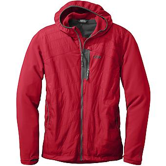 **SALE**Outdoor Research Mens Deviator Hoody Hot Sauce/Charcoal (Small)