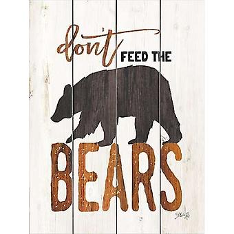 Dont Feed the Bears Poster Print by Marla Rae (12 x 16)