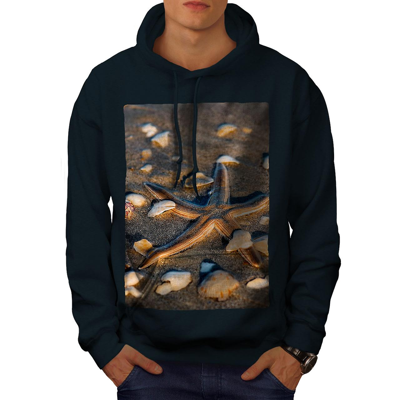 Bord de mer Photo Nature hommes NavyHoodie