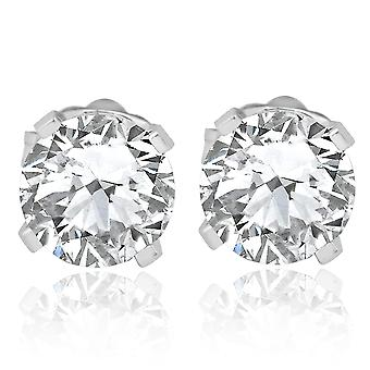 7 / 8ct Diamond hengsten 14K White Gold