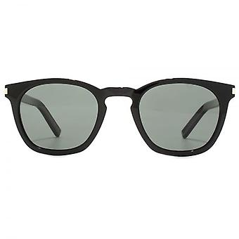 Saint Laurent SL 28 Sunglasses In Black Green Polarised
