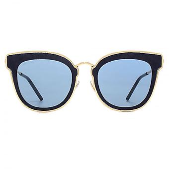 Jimmy Choo Nile Sunglasses In Gold Blue