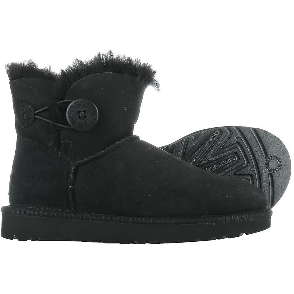 Classic Mini noir bouton Bailey 1016422BLK universelle femmes chaussures hiver