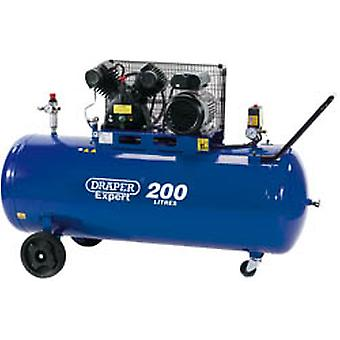 Draper 34383 Expert 200L 230V 2.2Kw (3Hp) V-Twin Belt-Driven Air Compressor
