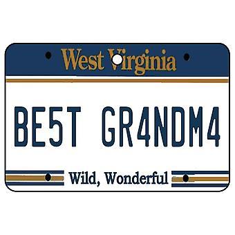 West Virginia - Best Grandma License Plate Car Air Freshener