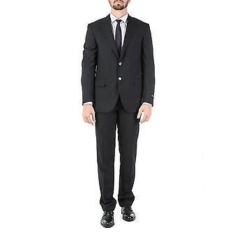 Corneliani Mens Suit Long Sleeves Dark Grey Super 130\'s