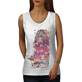 Girl Sexy Art Women WhiteTank Top | Wellcoda