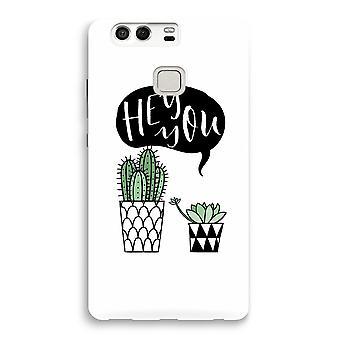 Huawei P9 Full Print Case - Hey you cactus