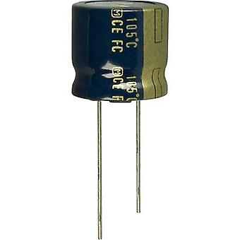 Electrolytic capacitor Radial lead 7.5 mm 820 µF