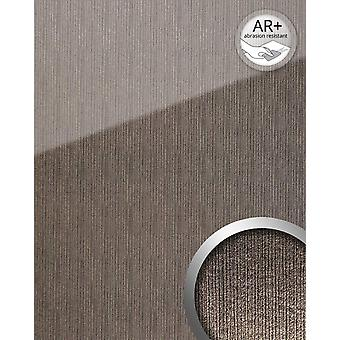 Wall Panel glass optics WallFace 20219 ALIGNED silver AR + cladding reflecting adhesive abrasion resistant smooth in high gloss finish silver grey 2.6 m2