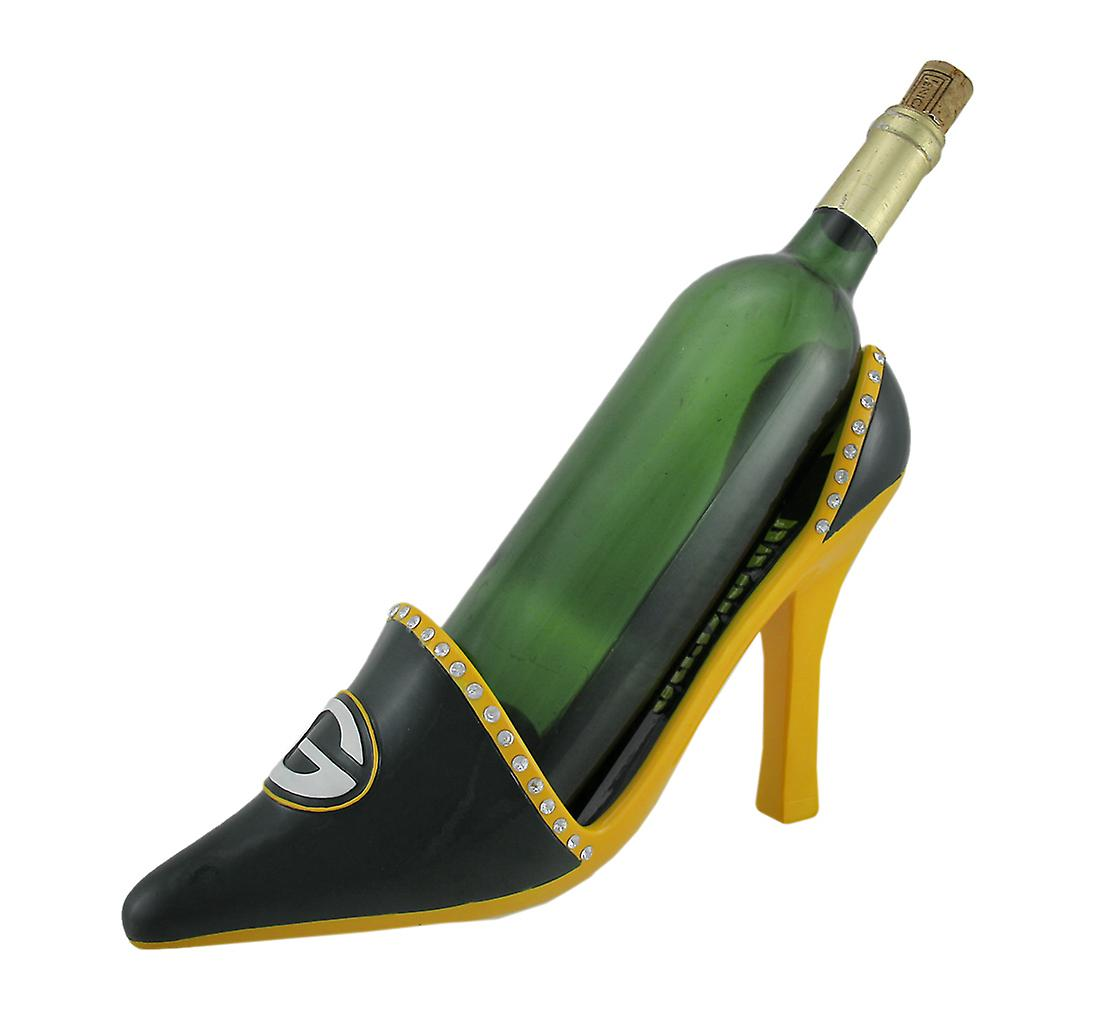 96b421b39237 NFL Green Bay Packers High Heel Shoe Wine Bottle Holder