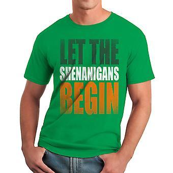 Humor Shenanigans Men's Kelly Green Funny T-shirt
