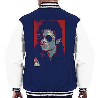Michael Jackson Portrait 1990 Classic Aviator Sunglasses Men's Varsity Jacket