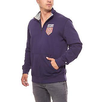 Champion easy fit full zip men's sweatshirt Blau
