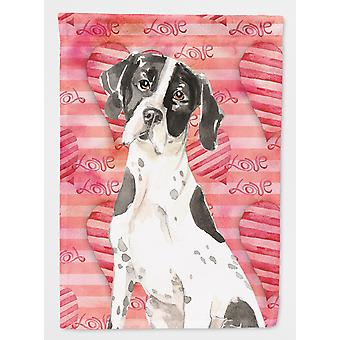 Carolines Treasures  CK1769CHF Love a English Pointer Flag Canvas House Size
