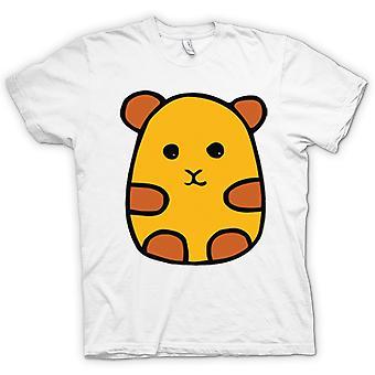 Мужская футболка-мультфильм дизайн хомяка
