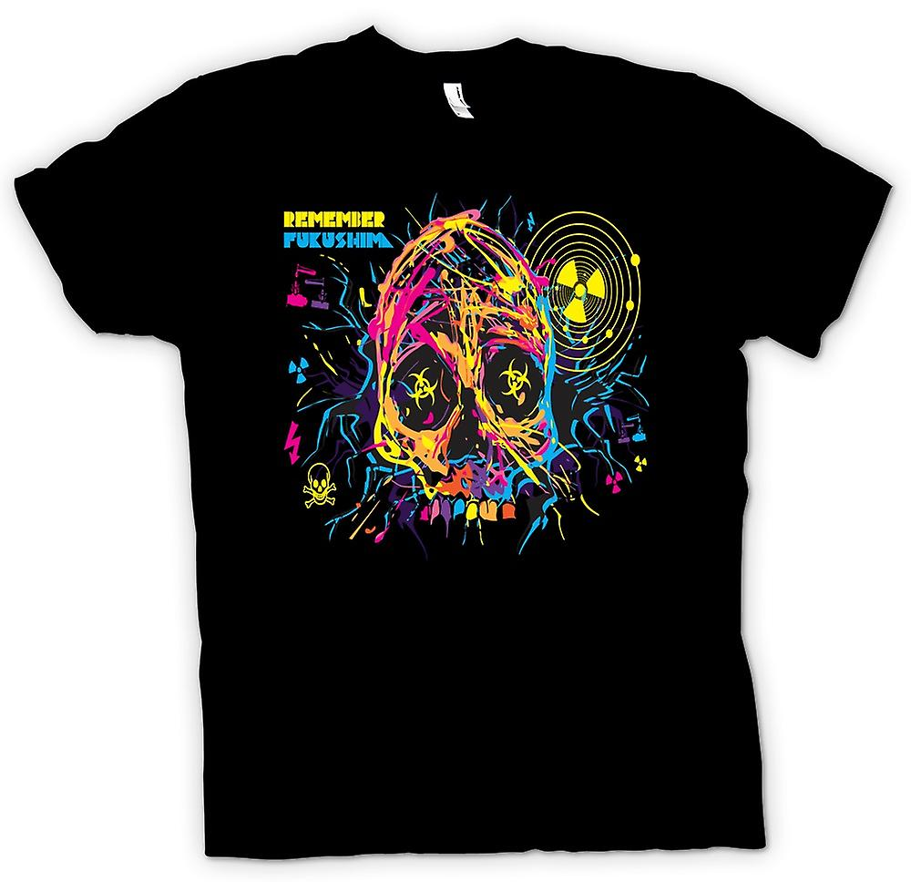 Mens T-shirt - Remember Fukishima - Nuclear Meltdown