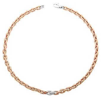 Orphelia Silver 925  Necklace Rose Links Zirc  ZK-7159