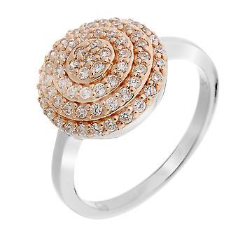 Orphelia sølv 925 Ring Bicoloror cirkel Zirconium ZR-7120