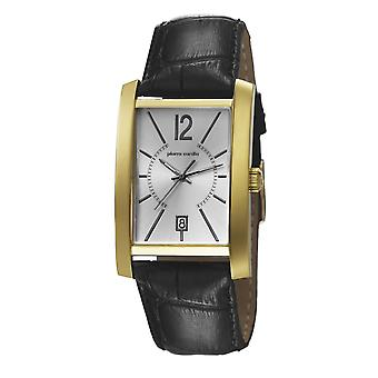 Pierre Cardin mens watch wristwatch GARE DE LYON leather PC106551F03