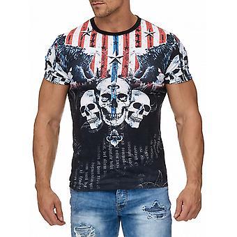 T-Shirt H1964 Top Kortärmad Eagle stjärnor stavfel herrskjorta