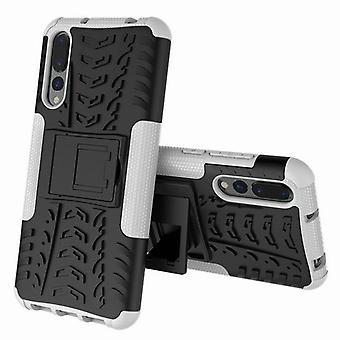 Für Huawei P20 Pro Hybrid Case 2teilig Outdoor Weiß Etui Tasche Hülle Cover Schutz