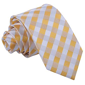 Solros guld Gingham Check smal slips