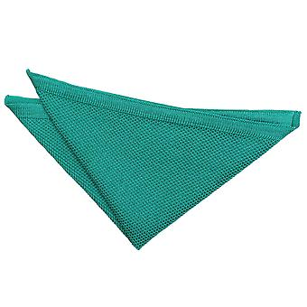 Teal Knitted Handkerchief / Pocket Square