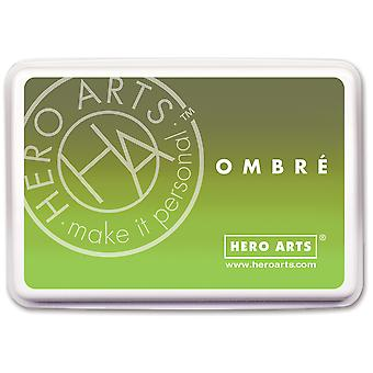 Hero Arts Ombre Ink Pad-Lime To Forever Green