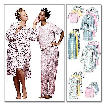 Misses' Robe, Nightgown Or Top and Pull-On Pants Or Shorts-Y (SM-MED-LRG) -*SEWING PATTERN*