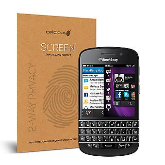 Celicious Privacy 2-Way Visual Black Out Screen Protector for Blackberry Q10