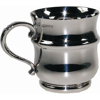 Thistle Shaped Sterling Silver Christening Mug