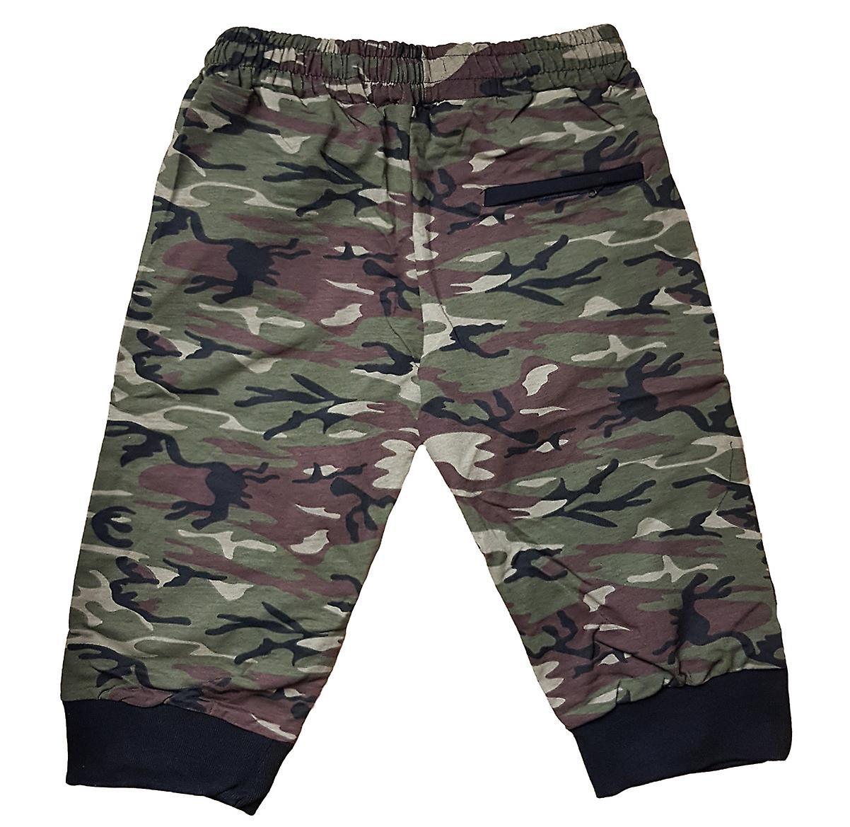 Korte Broek Legerprint Heren.Heren Shorts Bermuda Broek Elastisch Zweet Broek Camouflage Broek