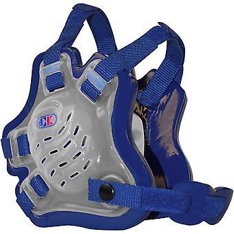 Cliff Keen jeugd F5 Tornado worstelen hoofddeksels - doorschijnend/Royal Blue